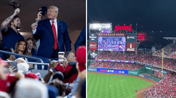 "Crowd chants ""lock him up!"" at President Trump during Game 5 of World Series"