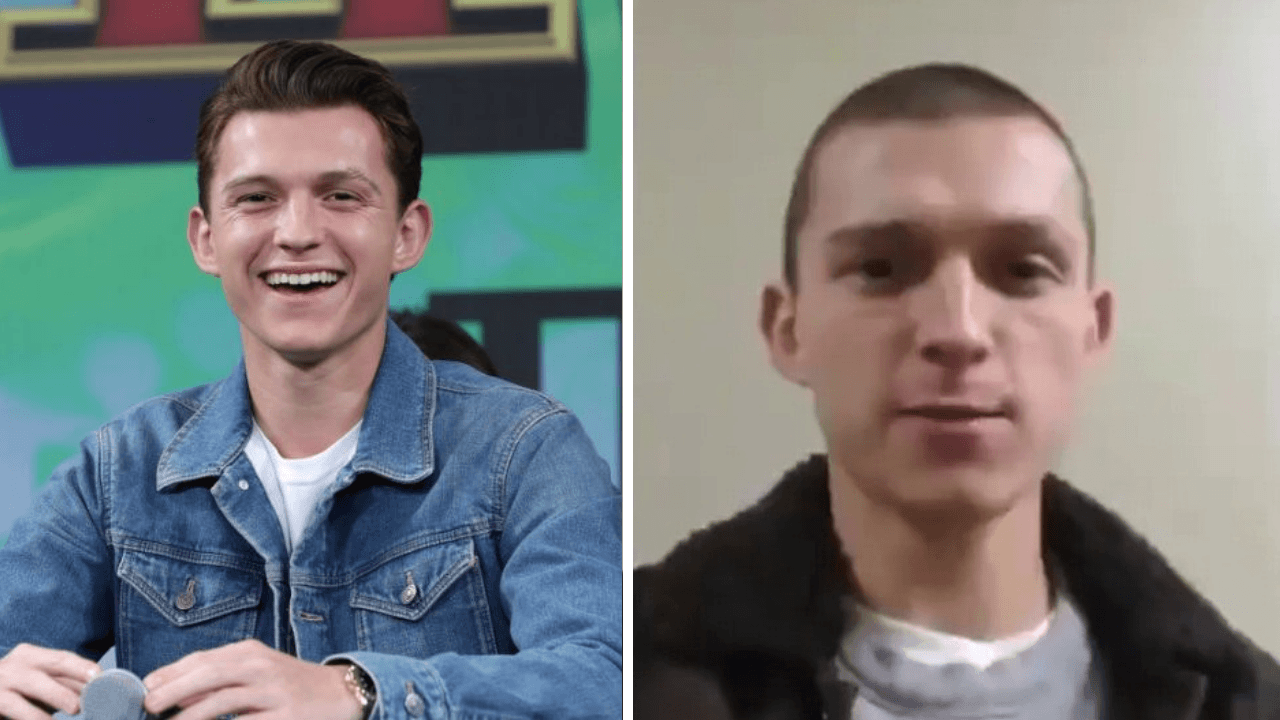 Tom Holland Just Shaved His All Hairs And People Think He Looks Like Eminem